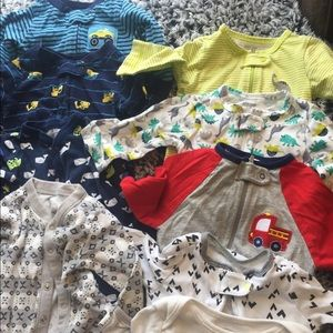 One Pieces - Bundle of 12 Baby boy footies